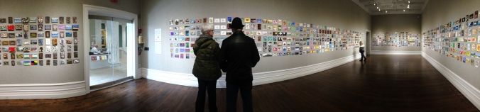 The 2015 Post Card Salon Exhibition is on display now at the Muskegon Museum of Art.